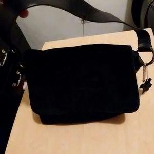 Apostrophe Bags - Black suede purse